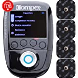 Compex Wireless USA 2.0 Muscle Stimulator with TENS Bundle Kit: 16 Snap Electrodes, 10 Programs, Wireless PODs, Charge Station / 4 strength, 2 warm-up, 3 recovery, 1 TENS