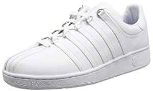 K-Swiss Men's Classic Vintage Updated Iconic Shoe, White/White, 9 M US