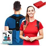 Posture Corrector for Women and Men - Upper Back Brace - Adjustable Back Straightener for Clavicle Support - Discreet Under Clothes - Provides Pain Relief from Back, Neck & Shoulders (Universal)