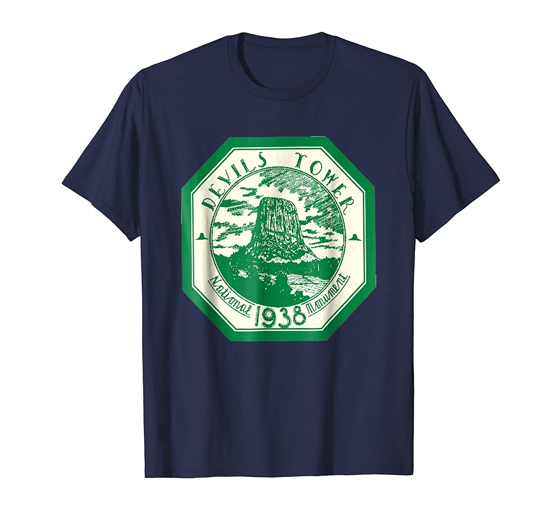 DEVILS TOWER National Park T Shirt Hiking Tee Wanderlust-ln