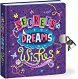 "Peaceable Kingdom Secrets, Dreams and Wishes Glow in the Dark 6.25"" Lock and Key, Lined Page Diary for Kids"