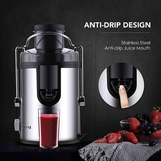 Joerid - Licuadora extractor de zumo de frutas y verduras, 2 ...