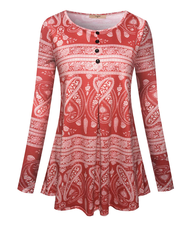 Luranee Dressy Shirts For Women Misses Work Blouses Crewneck Tunic