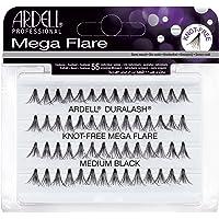 Ardell Duralash Knot-Free Mega Flare Medium Individual Lashes, Black, Medium