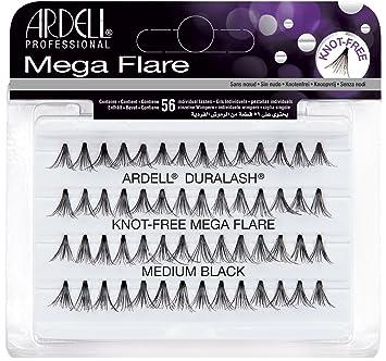 aaead6afe96 ARDELL Duralash Knot Free Mega Flare Individual Black Lashes Medium:  Amazon.ca: Beauty