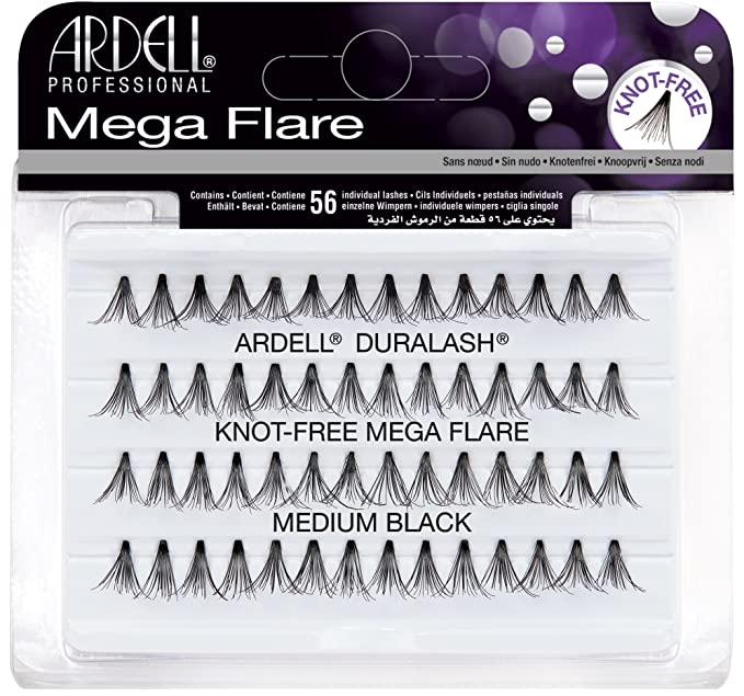 044866ffc4b ARDELL Duralash Knot Free Mega Flare Individual Black Lashes Medium:  Amazon.ca: Beauty