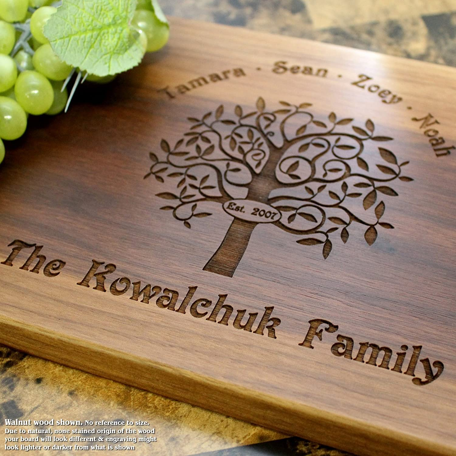 Personalized Cutting Board, Custom Keepsake, Engraved Serving Cheese Plate, Wedding, Anniversary, Engagement, Housewarming, Birthday, Corporate, Closing Gift #402