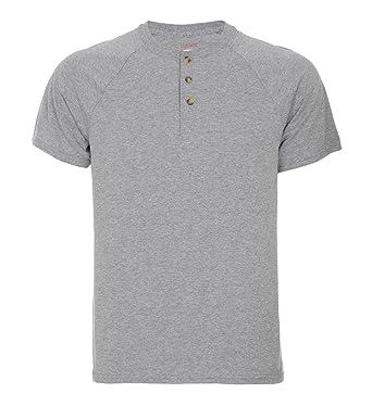 Hanes Men's Short-Sleeve Henley T-Shirt at Amazon Men's Clothing ...