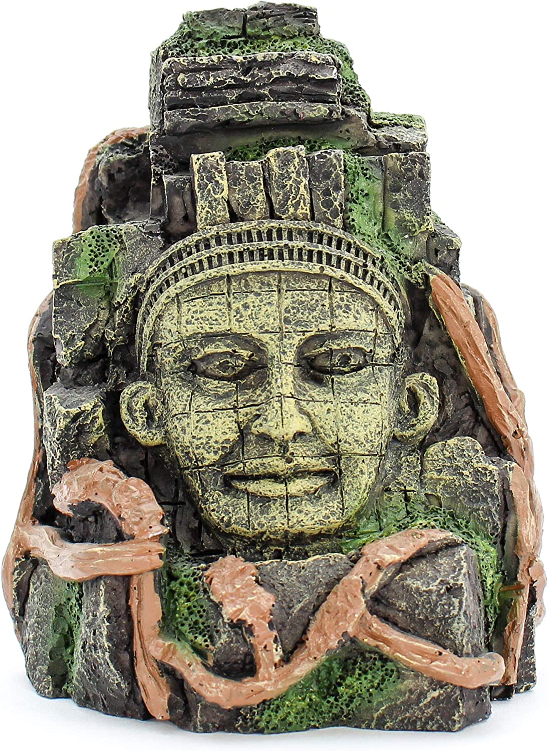 "Penn-Plax Deco-Replicas Cambodian Rock Face Aquarium Ornament – Safe for Freshwater and Saltwater Tanks – 5.5"" Height (RR965)"