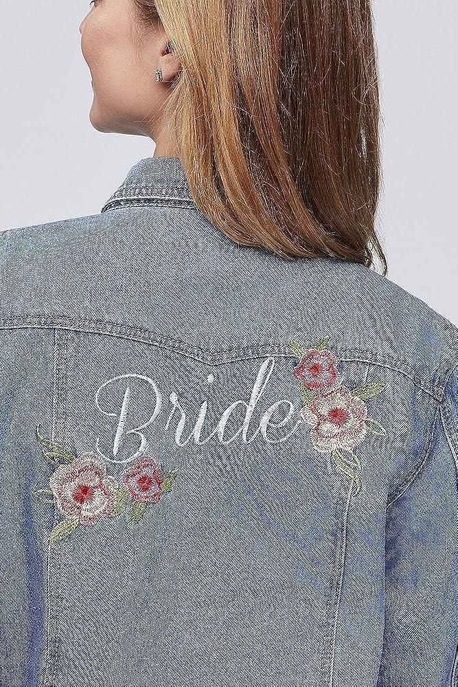 c36e96731b Amazon.com  Embroidered Bride Denim Jacket Style J10002  Clothing