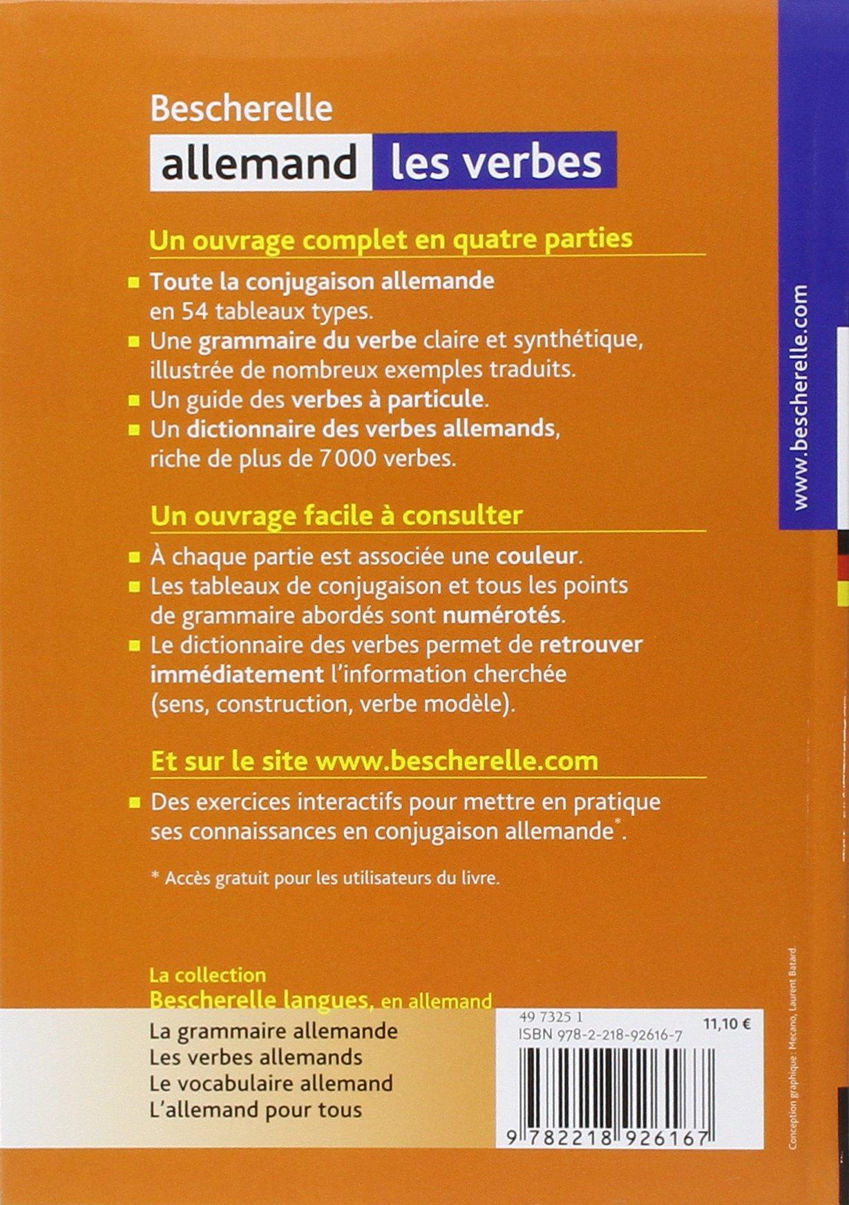 Amazon Fr Bescherelle Allemand Les Verbes Ouvrage De Reference Sur La Conjugaison Allemande Esterle Michel Livres