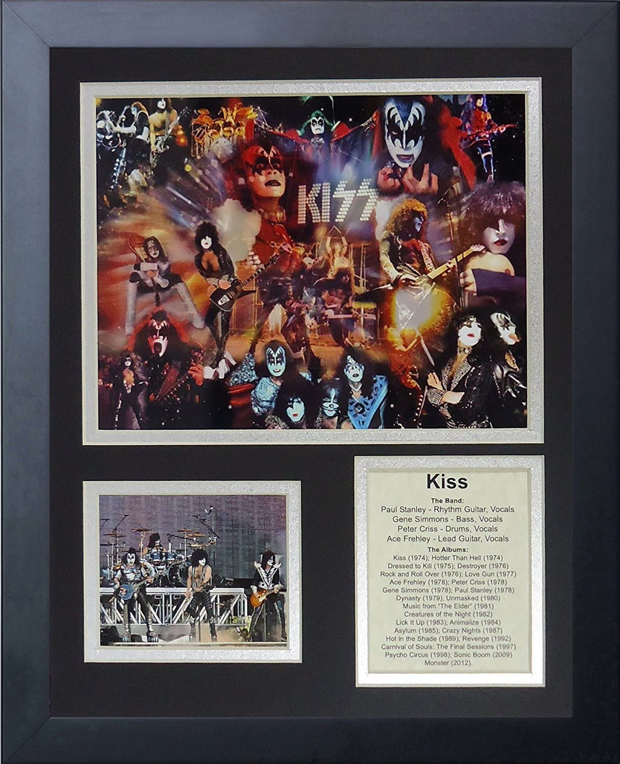 11x14-Inch Legends Never Die KISS Framed Photo Collage