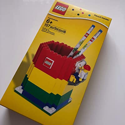 LEGO Pencil Holder & Minifigure & 2 Pencils 850426: Toys & Games