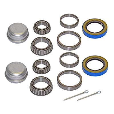 Pair of Trailer Bearing Repair Kits for 1-3/8 Inch to 1-1/16 Inch Tapered Spindles: Sports & Outdoors