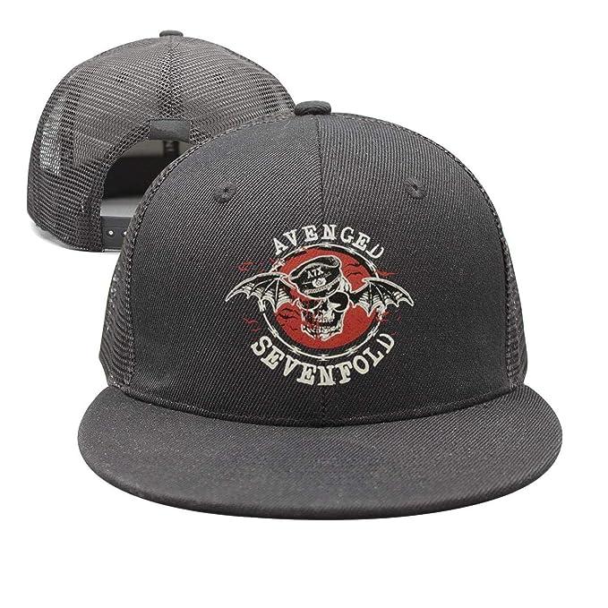 cc4054564b54b GBJDFHF Mens Woman Black Adjustable Trucker Hat Avenged-Sevenfold -United-States-