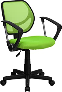 Flash Furniture Low Back Green Mesh Swivel Task Office Chair with Arms