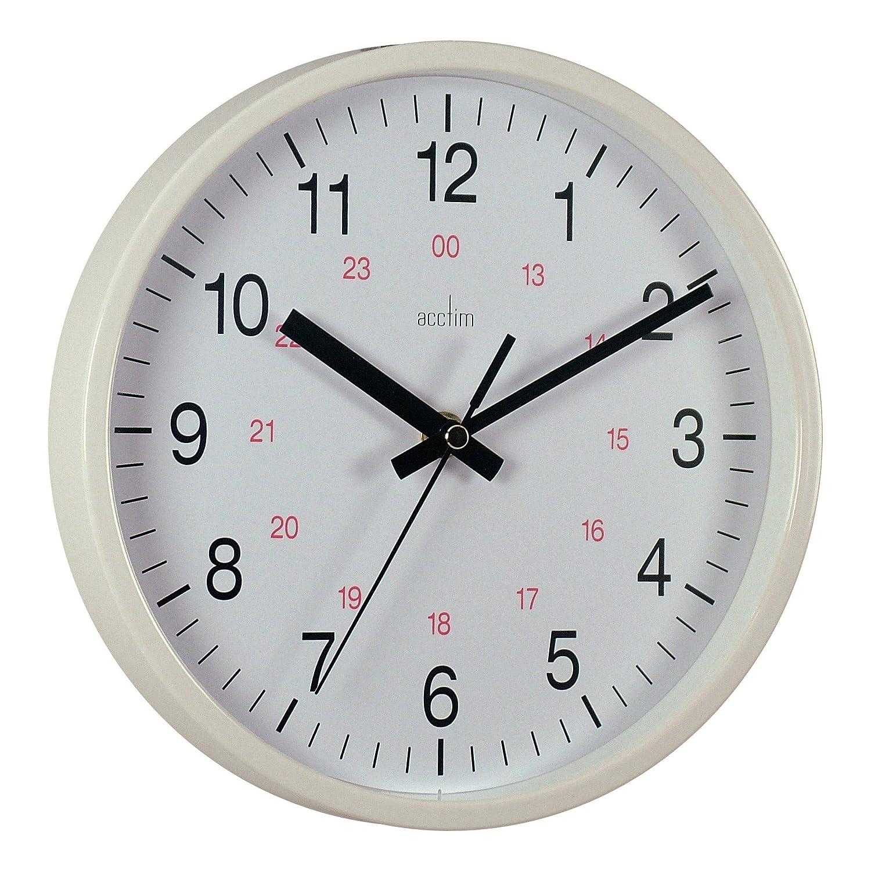 Acctim 21202 metro 14 inch wall clock white amazon acctim 21202 metro 14 inch wall clock white amazon kitchen home amipublicfo Choice Image