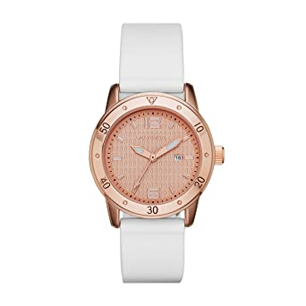 Skechers Women's Pink Gold Dial Silicone Band Watch SR6053