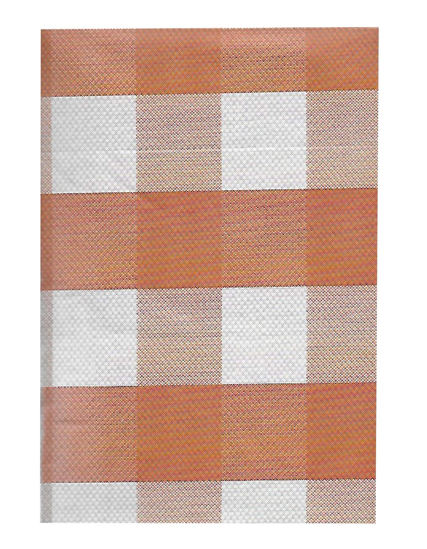 Newbridge Autumn Buffalo Plaid and Thanksgiving Print Vinyl Flannel Backed Tablecloth, Fall Rustic Cottage Check Tablecloth, 52 Inch x 52 Inch Square, Rust