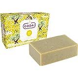 Godai Earth Unscented Natural Soap Bar (Organic Sugar, Green Clay, Shea Butter, Barley Grass, and Jojoba Oil), Certified Orga