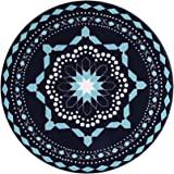 Lifver 4-Piece Porcelain Modern Jewelry Blue Coasters
