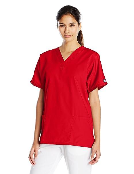 8c787c0eae6 Amazon.com: Cherokee Women's V Neck Scrubs Shirt: Clothing