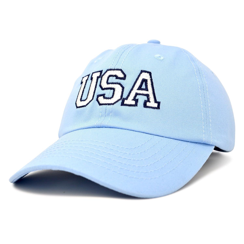 193af385ce8 DALIX USA Baseball Cap Flag Hat Team US Navy America Beige  Amazon.com.au   Fashion