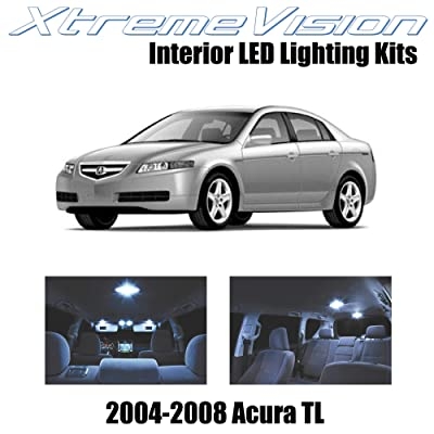Xtremevision Interior LED for Acura TL 2004-2008 (14 Pieces) Cool White Interior LED Kit + Installation Tool: Automotive