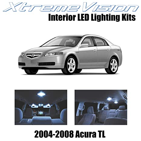 14PCS Pure White LED Light Bulb Interior Package Kit Deal for 2004-2008 Acura TL