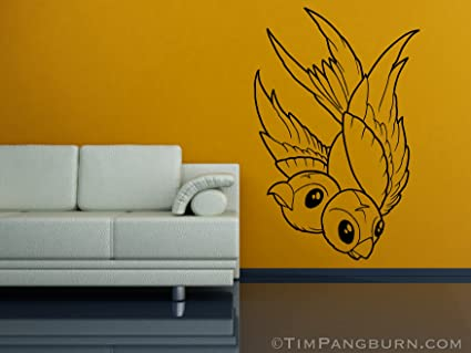 c6e1ded9cbc7c Amazon.com: Two Headed Bird Sparrow Vinyl 30 inch Wall Decal Home ...