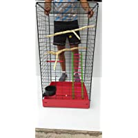 Jaula Artesanal para Loros o aves medianas 1 metro altura