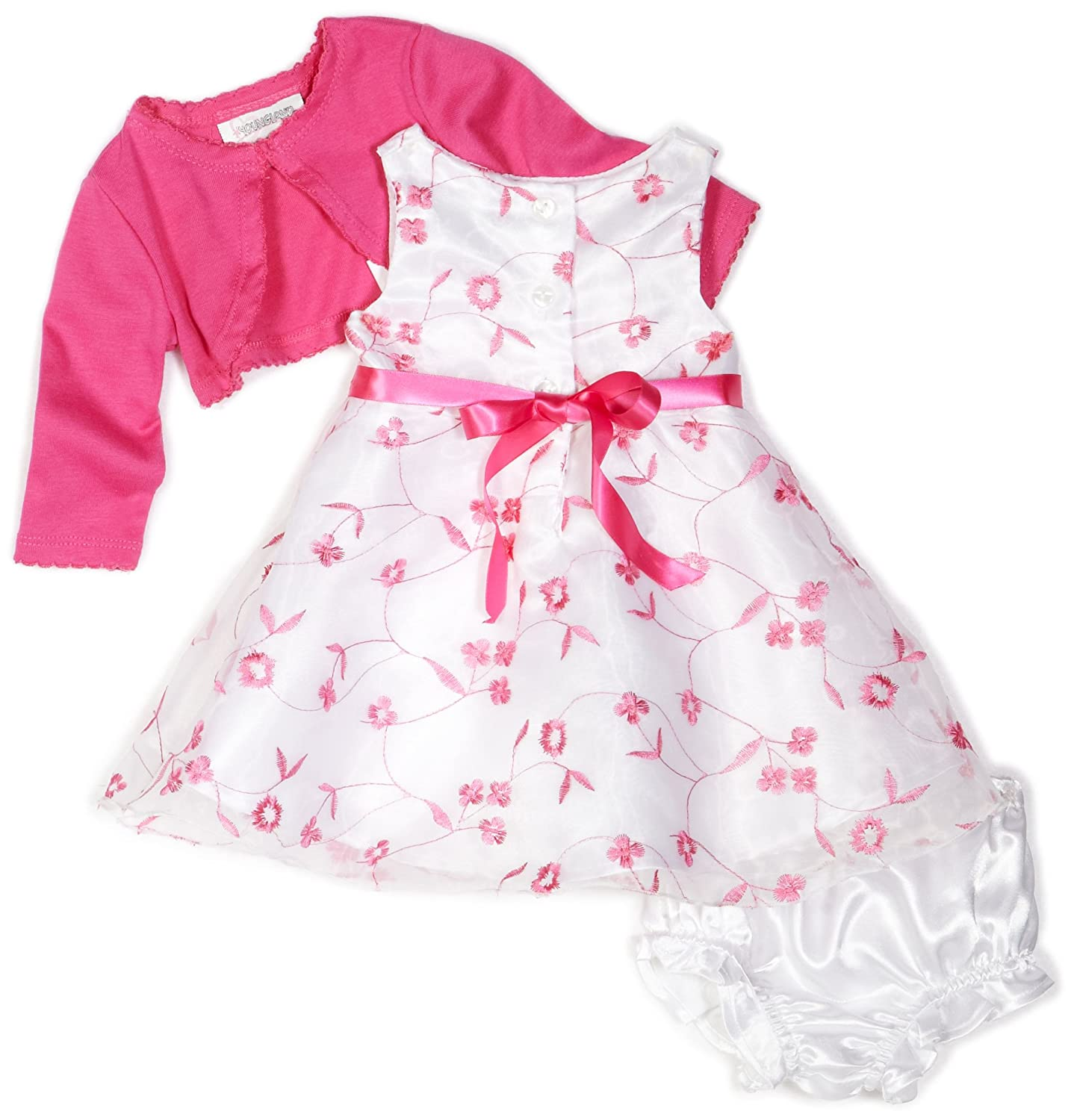 bc18fc0b3 Amazon.com  Youngland Baby Girls  3 Piece Embroidery Dress