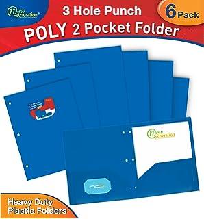 Amazon new generation green 3 hole punched 2 pocket poly new generation blue 3 hole punched 2 pocket polyplastic folder heavy colourmoves