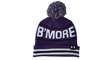 e768954aad1 Under Armour Retro Pom Pom Womens Beanie Hat - Royal Navy White - -
