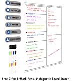 A3 Meal Diet Planner | Food Prep Nutrition Fitness Magnetic Fridge Board with Pen A3 Dry Wipe Magnet Whiteboard Kitchen Weekly/Daily Ideal for Planning Family Meals, Bodybuilding and Dieting (White)