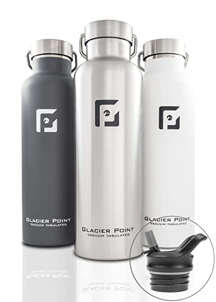 07fcd5af71 Glacier Point Vacuum Insulated Stainless Steel Water Bottle 25oz (Brushed  Stainless)
