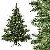 FAIRYTREES Tannenbaum künstlich NORDMANNTANNE, grüner Stamm, Material PVC, inkl. Metallständer, 180cm