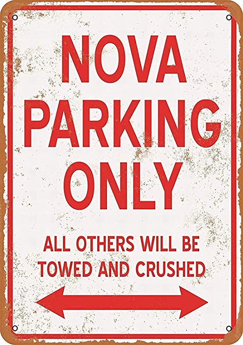 Shunry Nova Parking Only Placa Cartel Vintage Estaño Signo ...