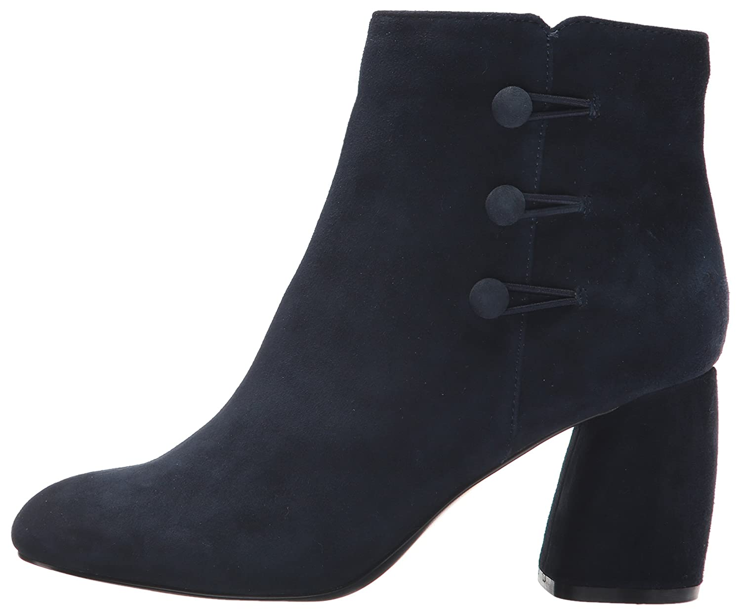 Nine West Women's Khraine Suede Ankle Boot B071HQ98Z9 6 B(M) US|Navy/Navy Suede