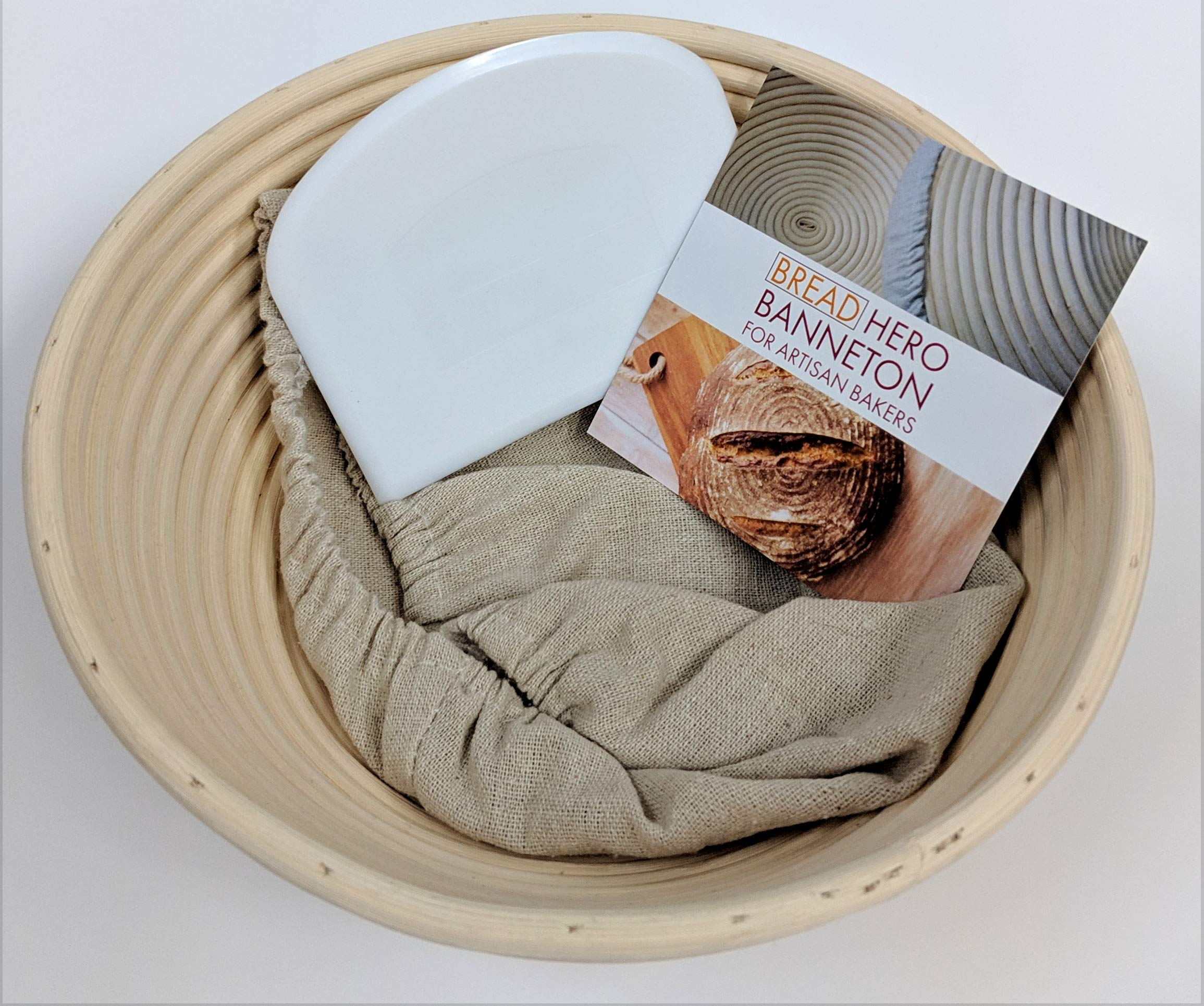 9 Inch Banneton Bread Proofing Basket for Artisan Bakers – Professional Bakers or Home Bakers Using Sourdough Recipes and Sourdough Starters For Novice or Experienced Baker Brotform Rattan Material