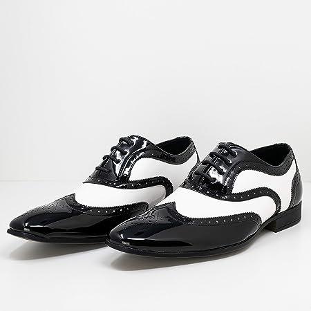 Smokies Hombres Zapato de Novia George sintético Zapatos clásicos de Laca para Smoking (EU,)