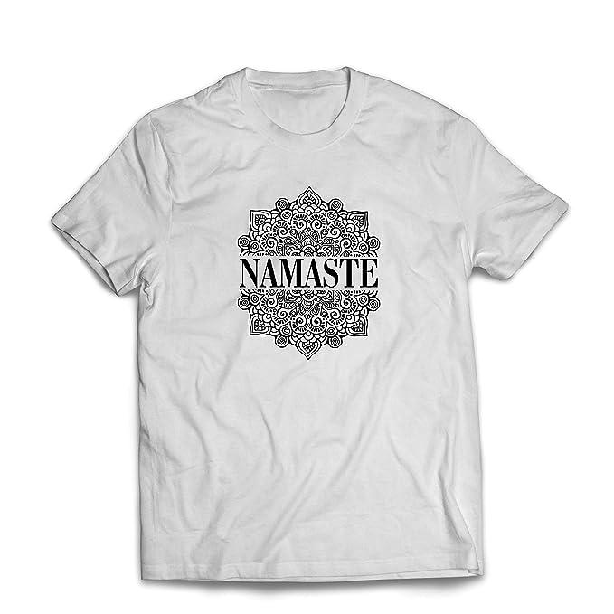 lepni.me Camisetas Hombre Meditación Yoga Namaste Mandala ...