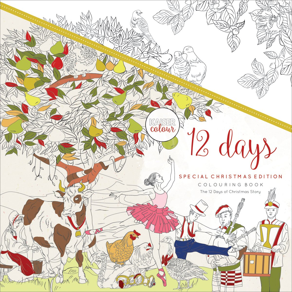 Kaisercraft 12 Days of Christmas KaiserColour Perfect Bound Coloring Book, 9.75X9.75 9.75X9.75 CL541