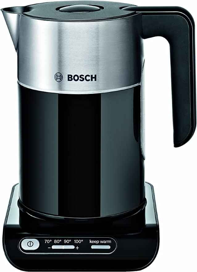 Bosch TWK8633 Styline Collection Cordless Jug Kettle, 1.5 L - Black [Energy Class A]