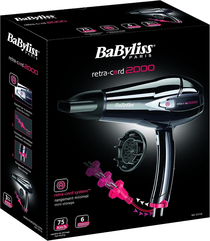 BaByliss Paris D372E Sèche cheveux Retra Cord 2000