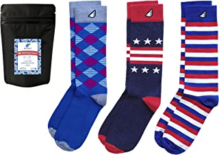 product image for Premium Quality Pack Colorful Fun Patterned Mens Dress Socks, Made in America…