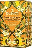 Pukka Lemon Ginger and Manuka Honey Tea, 20 Tea Bags