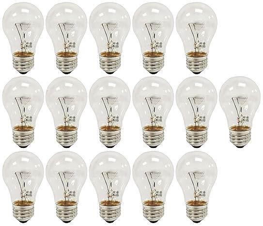 GE A15 Clear Ceiling Fan Bulbs 60W 650 Lumens (16 Pack)