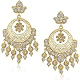 Meenaz Ear Rings For Girls In Traditional Gold Plated Pearl Earrings For Women Jewellery