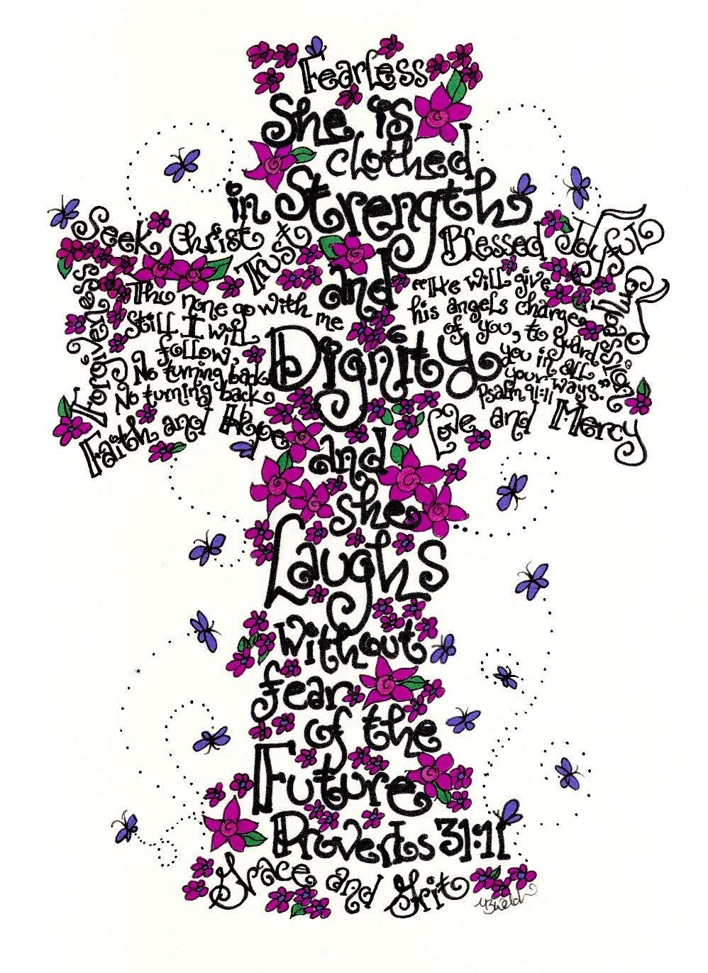 Fearless Cross 8x10 - Confirmation Gift for Girls